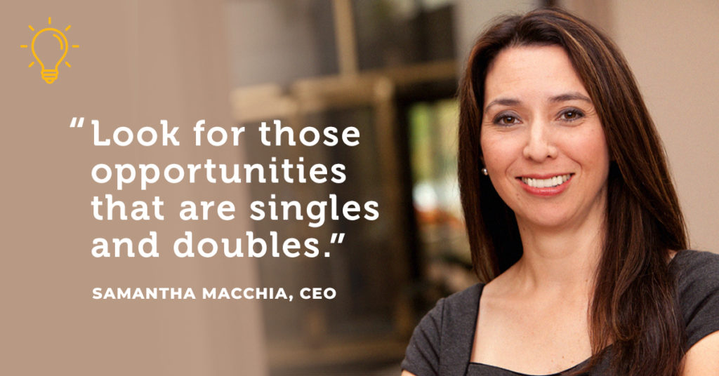 Samantha Macchia, CEO of Summit Financial Quote